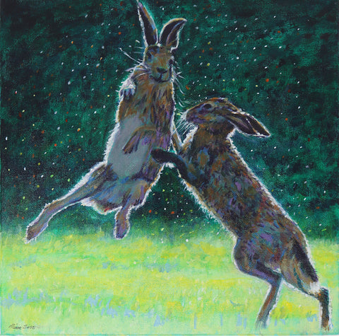 Alison Jess - Evening Boxing Match - Hares