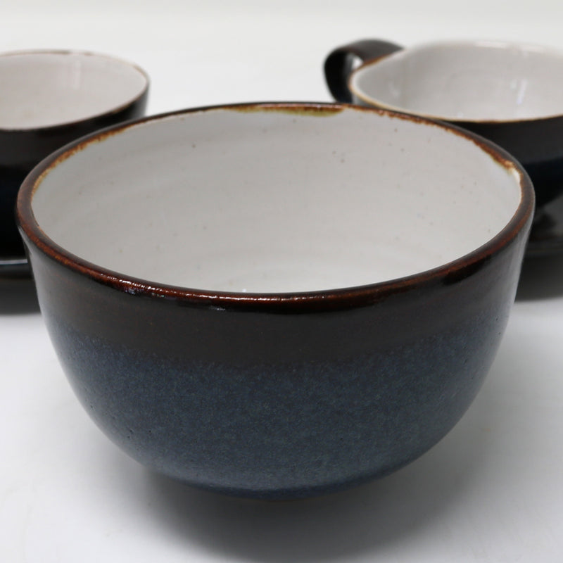 Dark blue sugar bowl by Claire Murdock