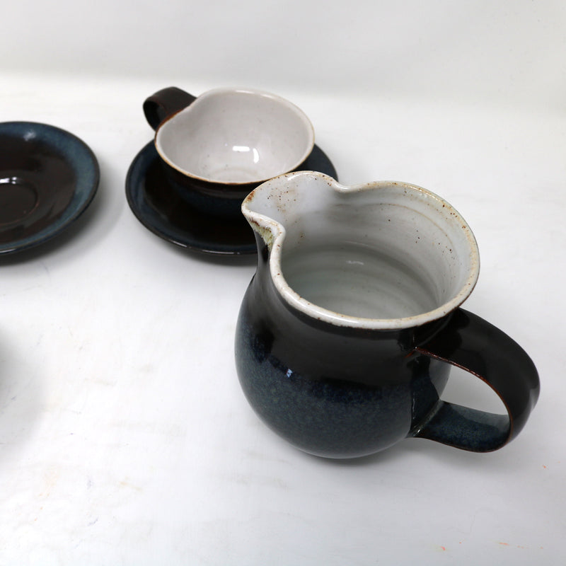 Dark blue Milk Jug II by Claire Murdock