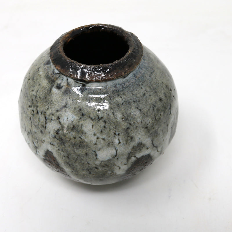 Mini Moon Jar - Grey & Brown - by Claire Murdock