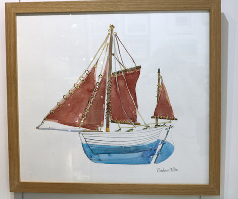 Barbara Allen - The Drontheim Fishing Boat - Watercolour