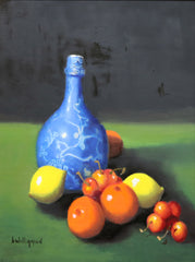 Barry Williamson - Blue Vase with Oranges and Lemons