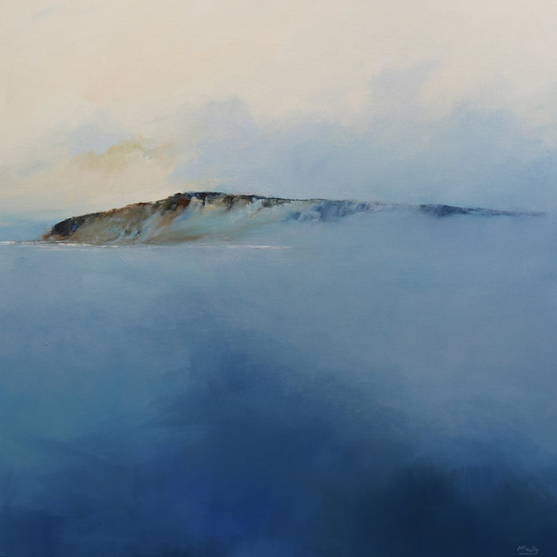 Lifting Mist - Large Square Abstract Irish Landscape oil painting by James McNulty