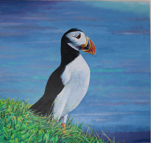 Alison Jess -  Looking out unto the Sea - Puffin II
