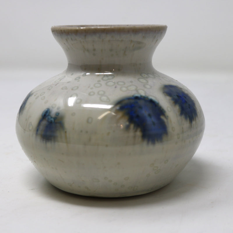 Small Narrow Neck Grey and Blue Ceramic Vase II by Alan McCluney