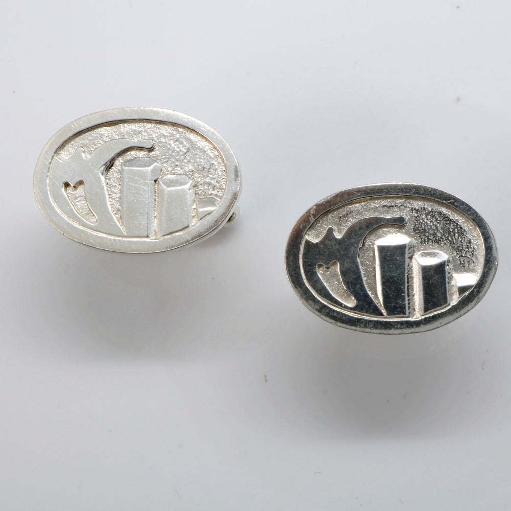 Sterling Silver Cufflinks Giants Causeway Storm Wave  - Robert Spotten