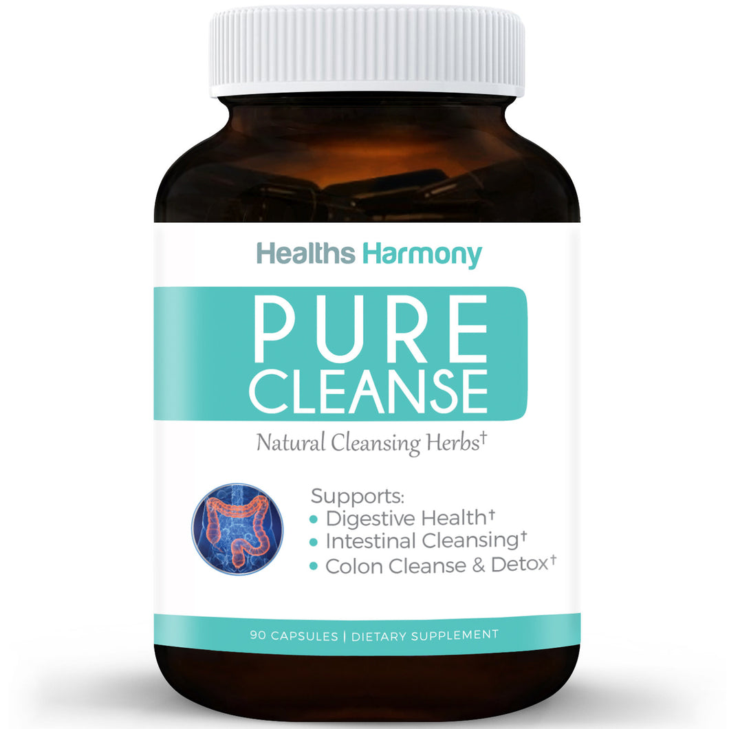 Pure Cleanse - Best Colon Cleanse Detox for Weight Lose | Psyllium Husk Powder, Fennel Seed, Cascara Sagrada & More Combine for Colon Health | Powerful Cleansing Herbs To Purge Toxins | 90 Capsule