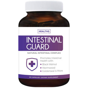 Healths Harmony Intestinal Guard (Non-GMO) Intestinal Support for Humans - Wormwood & Black Walnut - 60 Capsules