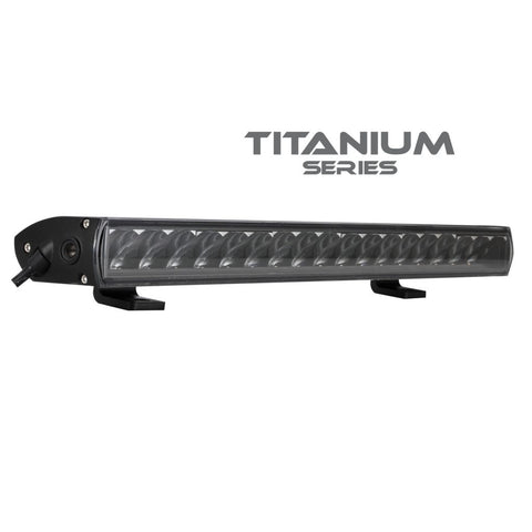 BRIGHT SOURCE – SINGLE ROW E-CODE TITANIUM LIGHT BAR 20″