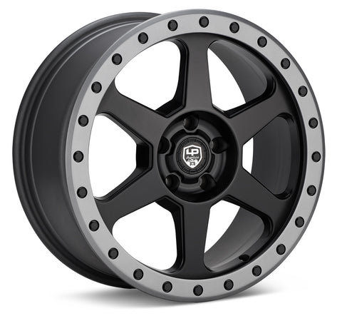 LP Aventure wheels - LP3 - 17x8 ET38 5x114.3 - Black W/Grey ring