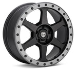 LP Aventure wheels - LP3 - 18x8 ET20 5x114.3 - Black W/Grey ring