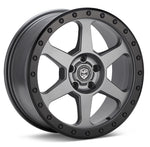 LP Aventure wheels - LP3 - 17x8 ET20 5x100 - Grey W/Black ring