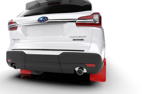 2018+ Subaru Ascent Red UR Mud Flap Black Logo - MF49-UR-RD/BLK