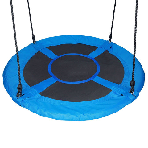 Giant 40″ Saucer Web Swing, Blue by Swinging Monkey