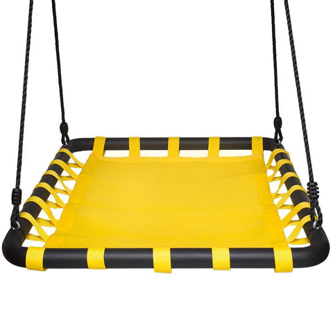 Giant Mat Platform Fabric Swing, Yellow by Swinging Monkey
