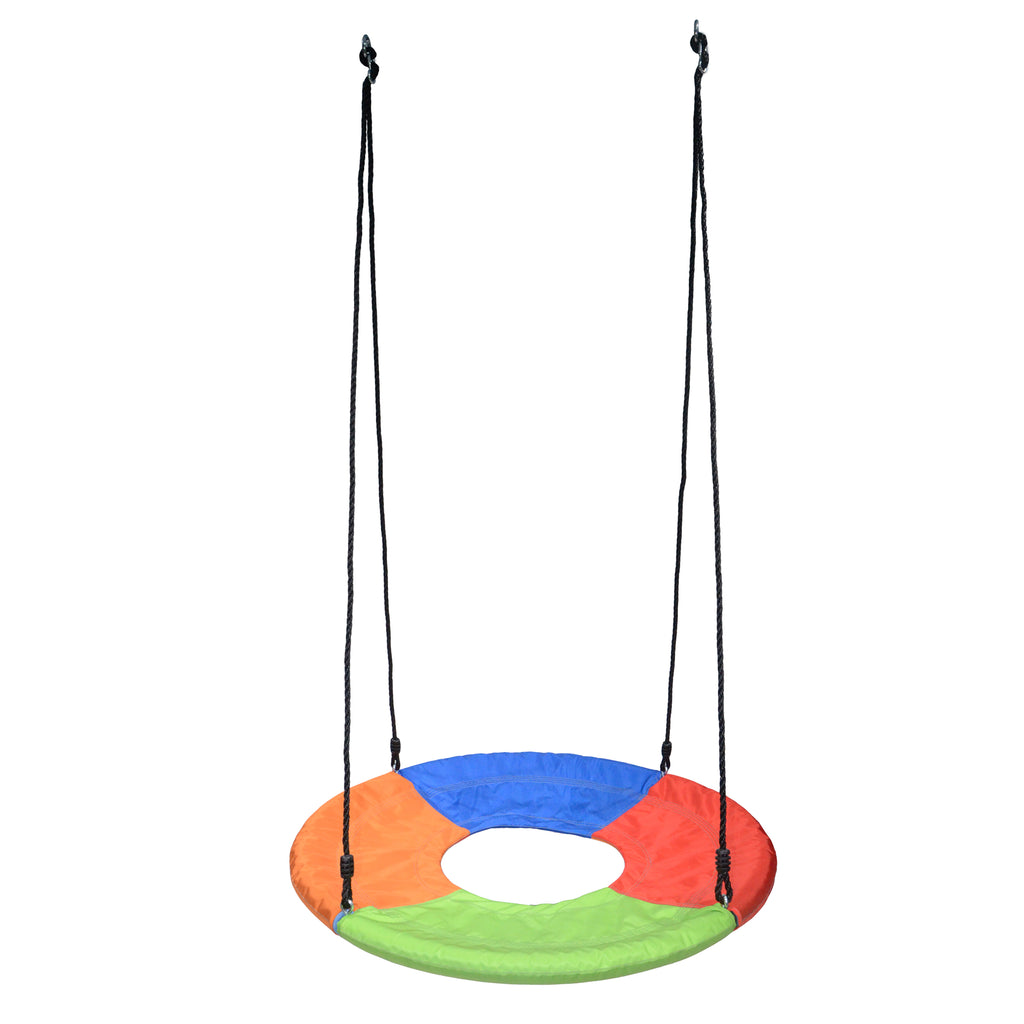 Tarzan Tire Swing, Rainbow Fabric