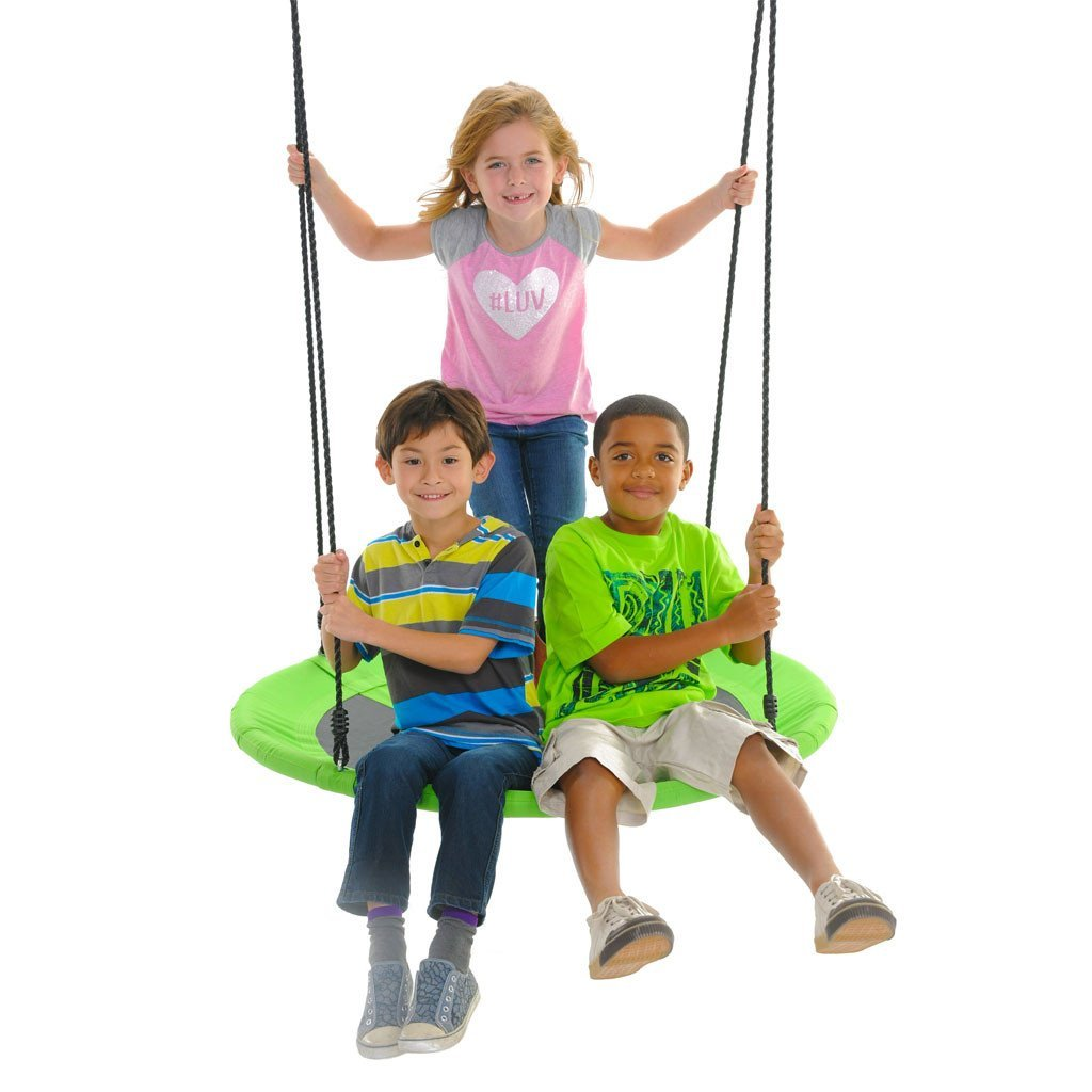 Giant 40″ Saucer Swing, Green   Large Outdoor Tree Swings ...