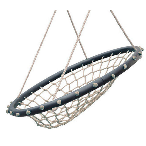 Hammock Chair 32″ Spider Web Swing, Light Brown by Swinging Monkey
