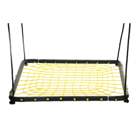 Large 36″ Spider Web Platform Swing, Yellow by Swinging Monkey