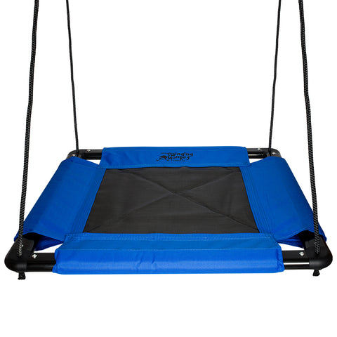 Heavy Duty Fabric Platform Swing, Blue by Swinging Monkey