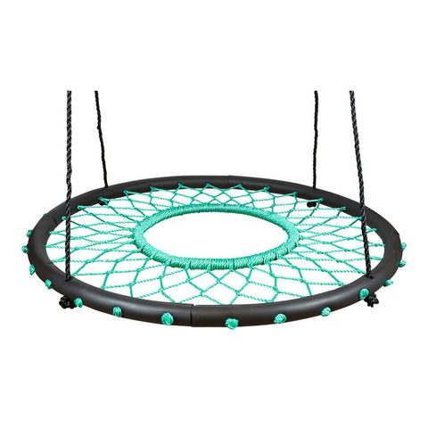 Tarzan Tire Spider Web Swing Seat, Green by Swinging Monkey