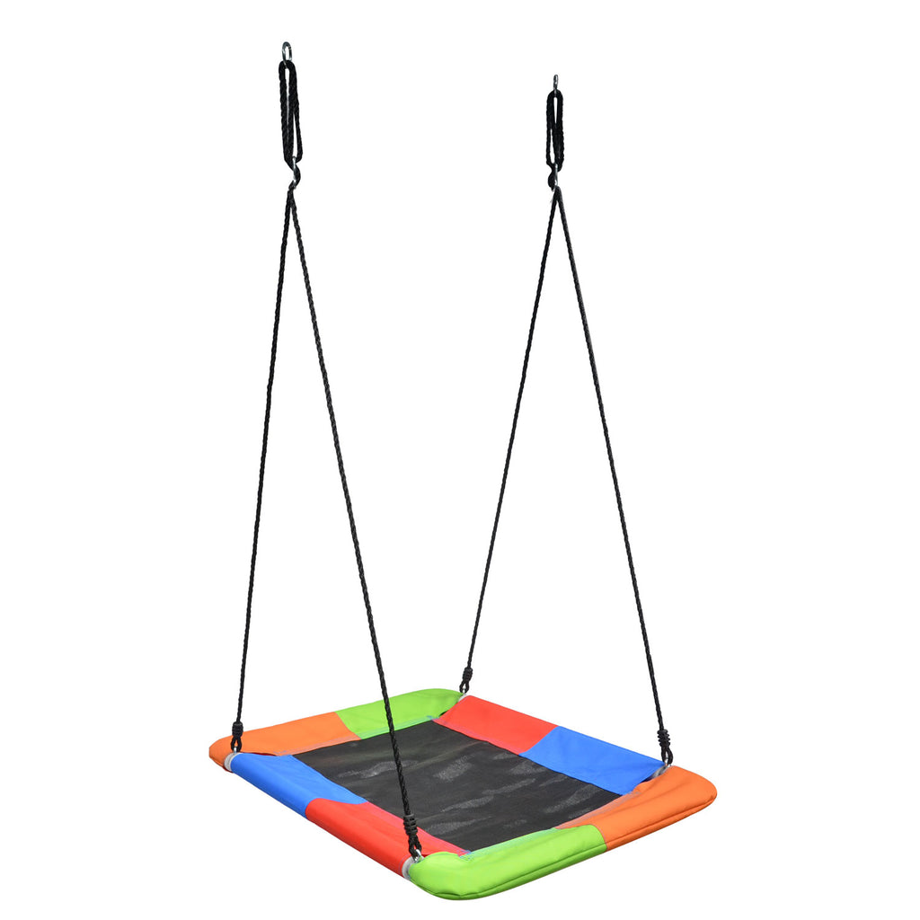 Giant Mat Platform Fabric Swing, Rainbow by Swinging Monkey