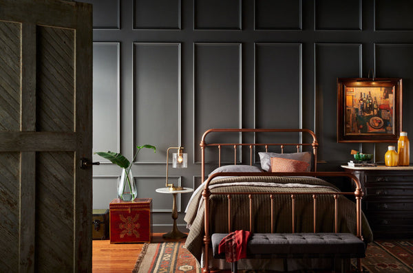 dark gray bedroom walls