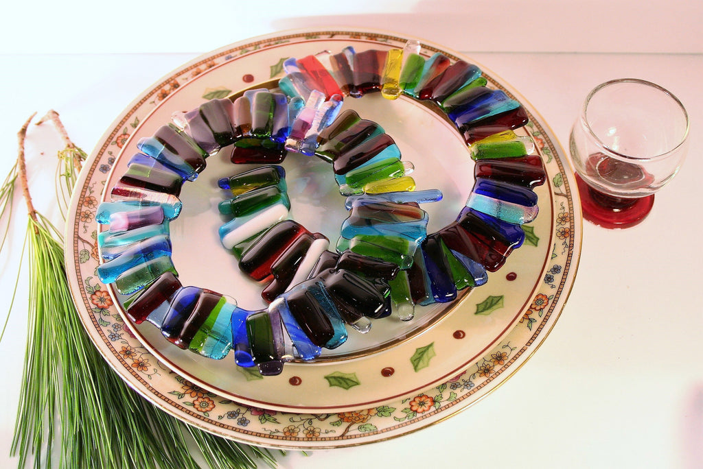 fused glass christmas wreaths