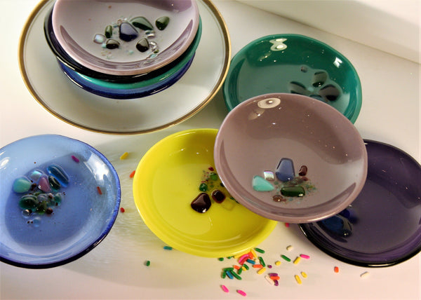 glass sprinkles ring dish
