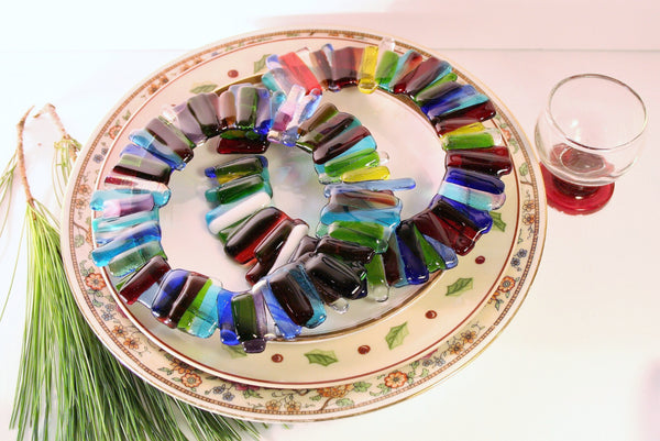 Rainbow Glass Wreaths