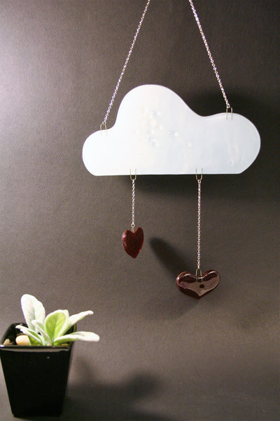 Raining Hearts Glass Cloud