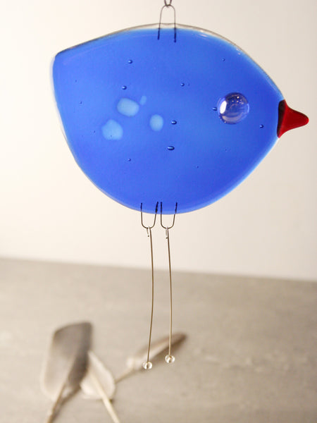 Cobalt Glass Bird