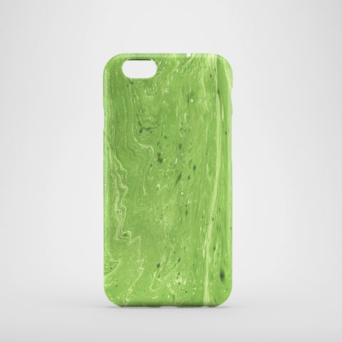 Green Marbleized Phone Case