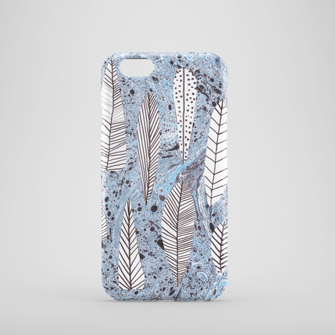 Marble Leaves Phone Case