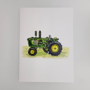 Green Tractor card