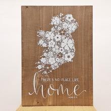 There's No Place Like Home, Ireland - Wood Sign