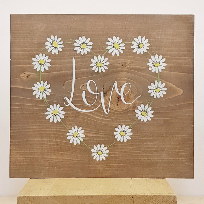 Daisy Chain Love - Wood Sign