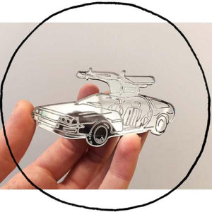 The Delorean of Belfast Brooch