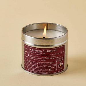burren susurrus candle in a tin orchid the bearded candle makers