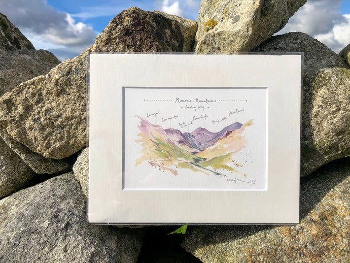 Mourne Mountains | Annalong Valley Illustration
