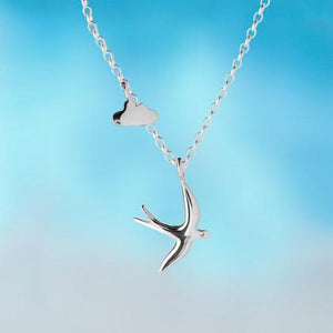 Silver Swallow little silver cloud pendant