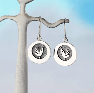 Lark Silver Drop Circular Earrings