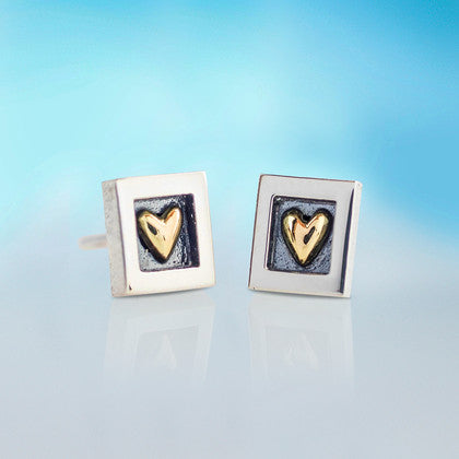 Heart of Gold Studs (Mini)
