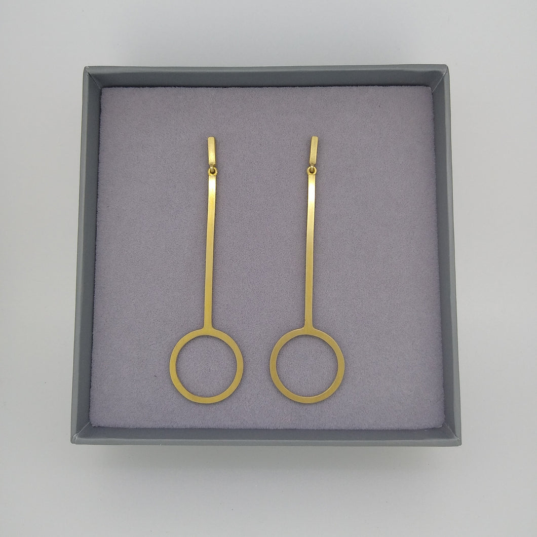 Swings and Roundabouts | Long Gold Earring