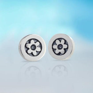 Little Flower Silver Stud Earrings | Alan Ardiff at Painted Earth
