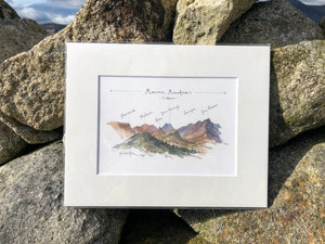 Mourne Mountains, Mounted Print