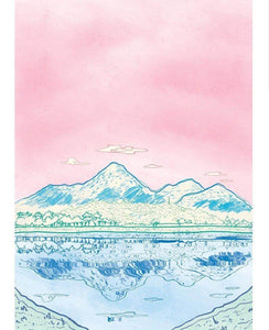 Mourne Mountains Pastel Colour Greeting Card