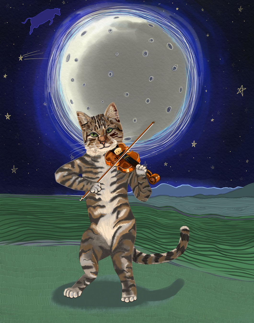 Cat Fiddle print