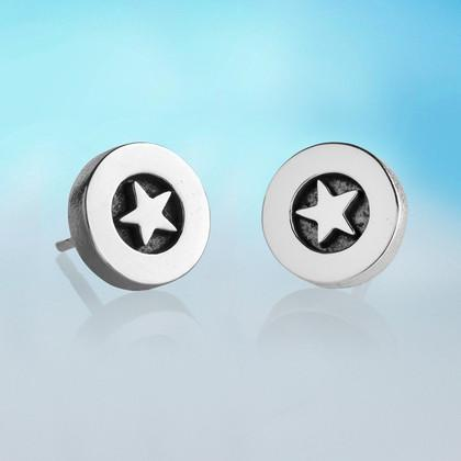 Silver Star Stud Earrings | Alan Ardiff at Painted Earth