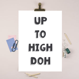 Up to High Doh Illustration